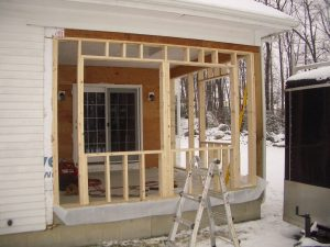 Screen Porch Conversion #3 - During Construction