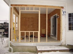 Screen Porch Conversion #2 - During Construction